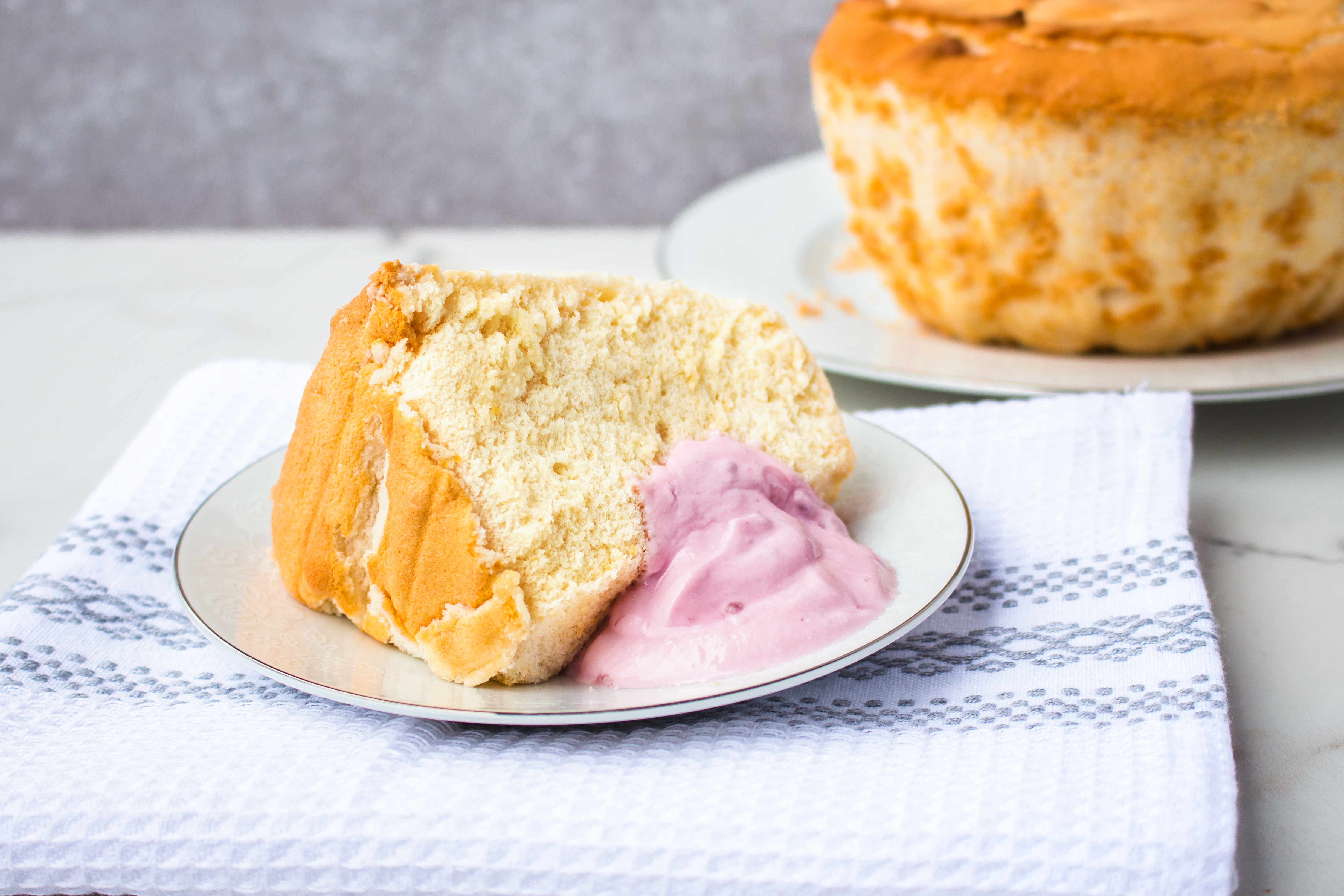 gluten-free angel food cake by eat for life by Marsha